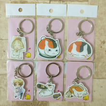 Natsume Yujincho Keychain Keyrings 6PCS/lot Fashion Jewelry Key Chains Custom made Anime Key Ring HS01