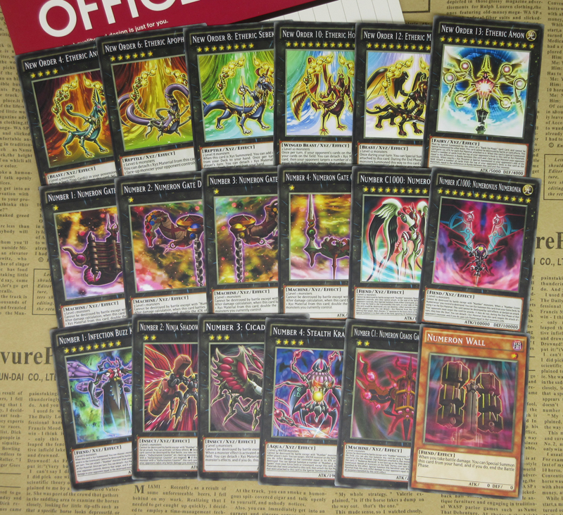 18pcs YuGiOh Zexal Anime Special Cards New Order Number iC1000 Numeronius Numeronia Don Thousand Cosplay TCG Proxy Orica Card image
