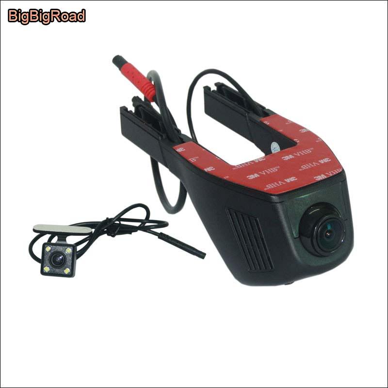 BigBigRoad Car Dash Cam APP Control Car Wifi DVR For Peugeot 207 307 4007 Novatek 96658 Dual Camera Car Black Box Camcorder for peugeot 4007 gp