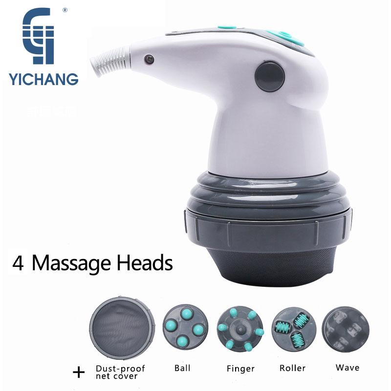 YICHANG Новый Дизайн Электрический Бесшумная Вибрация полный массажер для тела для похудения разминающий массажный ролик для талии потеря вес...