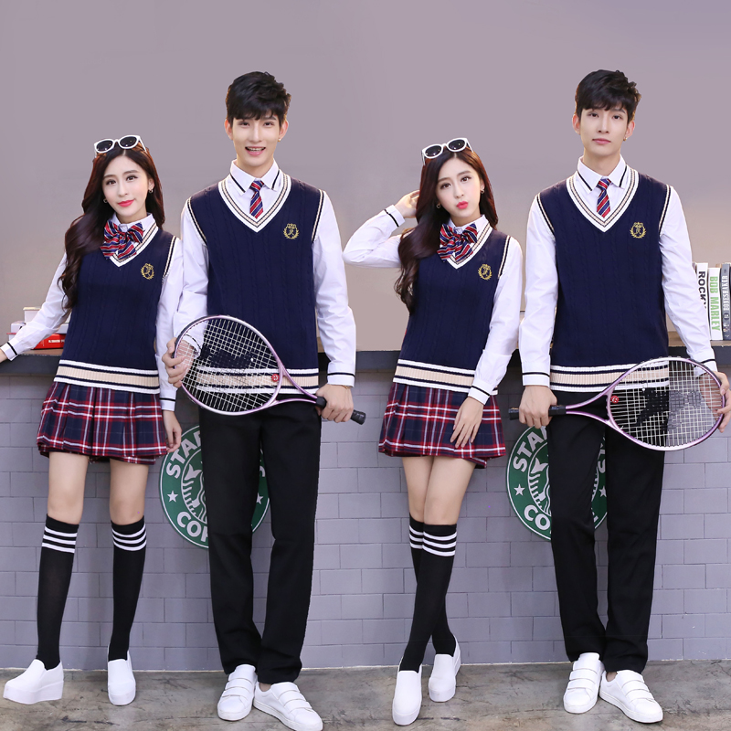 High Quality Uniforms Set School Student College English High School Student Class Unifo ...