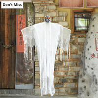 Halloween Hanging Ghost Big Size Wing Ghost Skull Head Demon Spooky Hanging Decoration Horror Electric Toys Haunted House Props