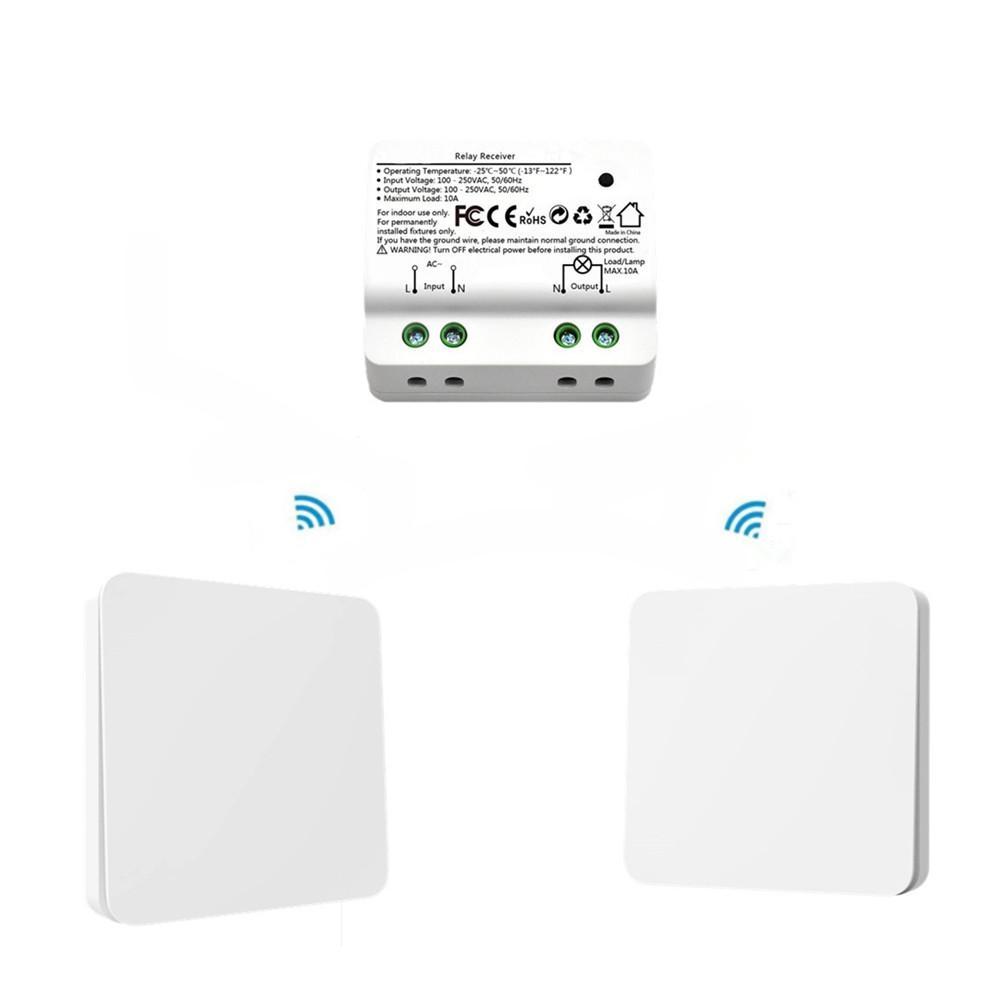 2 en 1 AC 110-250 V Smart RF Intelligent commutateur cinétique sans fil auto-générateur relais récepteur Double face ruban tournevis