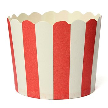 50X Cupcake Wrapper Paper Cake Case Baking Cups Liner Muffin Kitchen Baking Red Stripes Cake Molds