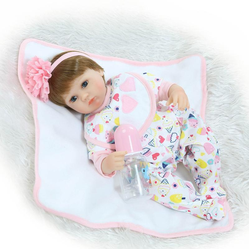 Doll Baby D120 40CM 16inch NPK Doll Bebe Reborn Dolls Girl Lifelike Silicone Reborn Doll Fashion Boy Newborn Reborn Babies