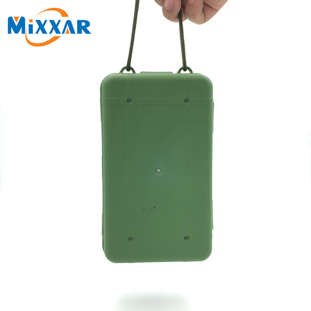 NZK10 Waterproof Anti Fall Green Plastic Storage Box For Flashlight Light Torch Lamp Battery Charger Case with 5 Size