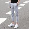2016 мужчин белье случайные брюки летние мужчины белье брюки лодыжки длина бегунов комфортно все матч плюс размер прямые брюки мужчины