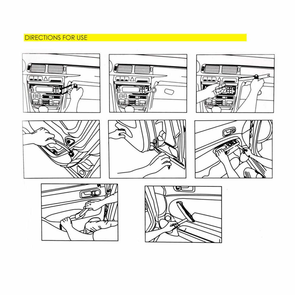 Professionelle 4 Pcs Orange ABS Automobil Audio Tür Clip Panel Trim Dash Auto Radio Entfernung Hebeln Werkzeuge Set Auto Panel entfernung Werkzeug