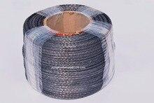 """Corde de treuil synthétique noire de 5mm * 100m, câble de treuil datv de 3/16 """"Dia pour des accessoires tout terrain, corde de Spectra de 12 tresses, corde de Plasma"""