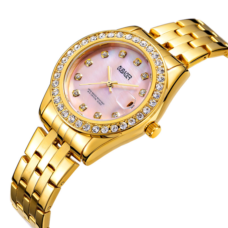 OUBAOER Gold Diamond Quartz Watch Women Ladies Famous Brand Luxury Golden Wrist Watch Female Clock Montre Femme Relogio Feminino yazole golden diamond gold watch women ladies famous brand luxury quartz watch wrist female clock montre femme relogio feminino