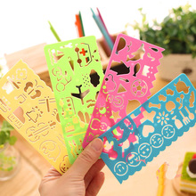 4PCS/Set Creative Children Drawing Ruler Fun Plastic Drawing Template Stamp Spirograph Toy Stencil Ruler DIY Toy Hot