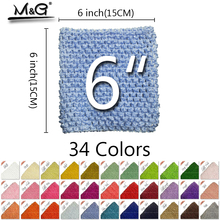 2016 New 34 colors Arrival 6inch 15 15CM Colourful tutu Crochet font b Baby b font