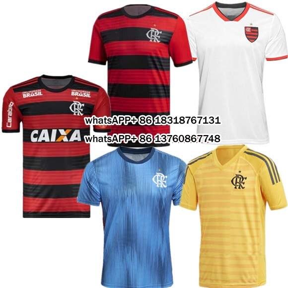 b7f06a5333 2018 2019 Camisa Camisas Casual T 2018 2019 Flamengo Camisas Flamingo  Adulto Lazer Novo Melhor Qualidade