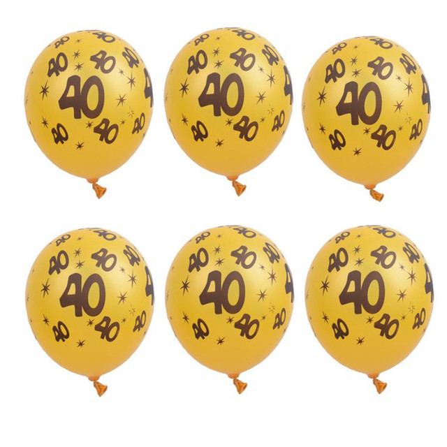 10pcs 30th 40th 50th wedding anniversary balloons latex letter 10pcs 30th 40th 50th wedding anniversary balloons latex letter number print blackgold party decor junglespirit Images