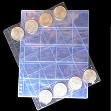 10PCS/5PCS Lot 252*195 Album Pages 20 Pockets Coin Album Page Sheets Leaf Sleave For Coins Collections For Coin<42mm Album