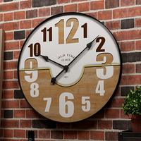 European Large Metal Wall Clock Modern Design Antique Style Bar Cafe Wall Decoration Luxury Clocks Wall Watch Home Decor 50 cm