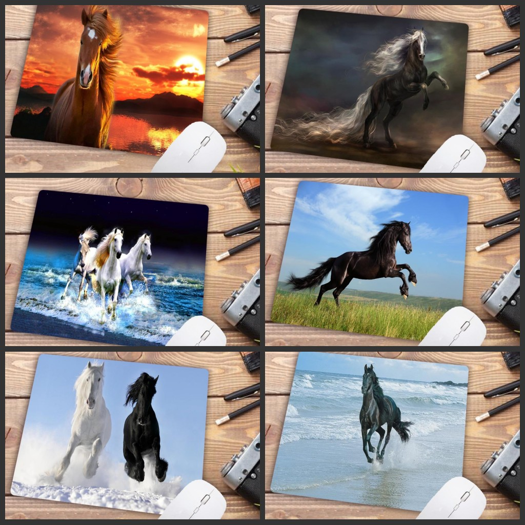 Mairuige Big Promotion Horse Animal Cheap Speed Version Gaming Mouse Pad Gamer Small Size Mouse Keyboards Mat Desk Mousepad