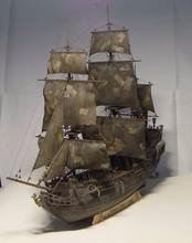 Черная Жемчужина корабль лодка комплект 1/96 масштаб 3d Лазерная Резка Diy Черная Жемчужина Модель Комплект