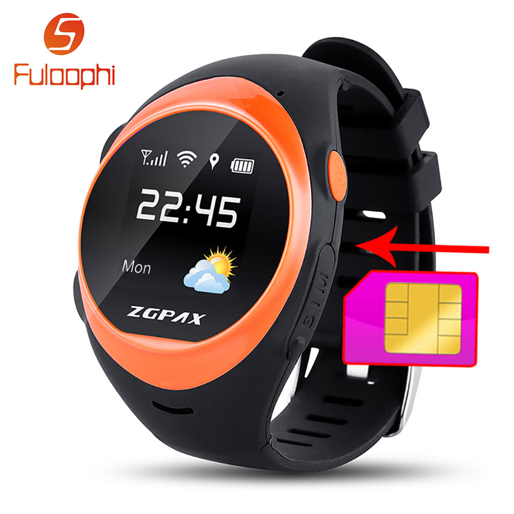 ФОТО ZGPAX S888 Bluetooth Smart Watch Phone SOS  LBS Anti Falling Alarm Locate Remote Smartwatch Safety Children Kids GPS Smart Watch