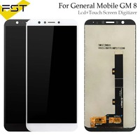 Black/White For General mobile GM 8 GM8 LCD Display +Touch Screen Digitizer Assembly Replacement Accessories For GM 8 LCD+Tools