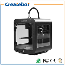 Black Super Mini 3D Printer 2016 New Upgraded Createbot 3D Printer A Toy for Kids No Need to Level High Precision Best Price