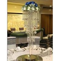 10Pcs/Lot Flower Vases Floor Crystal Vase Plant Floral Holder Flower Pot Road Lead for Home/Wedding Corridor Decoration G125