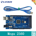 ЛАНДЗО Мега 2560 R3 Mega2560 REV3 ATmega2560-16AU Совет + Кабель USB совместим для arduino Mega 2560 r3