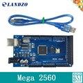 LANDZO Mega 2560 R3 Mega2560 REV3 Conseil ATmega2560-16AU + Cable USB compatible pour arduino Mega 2560 r3