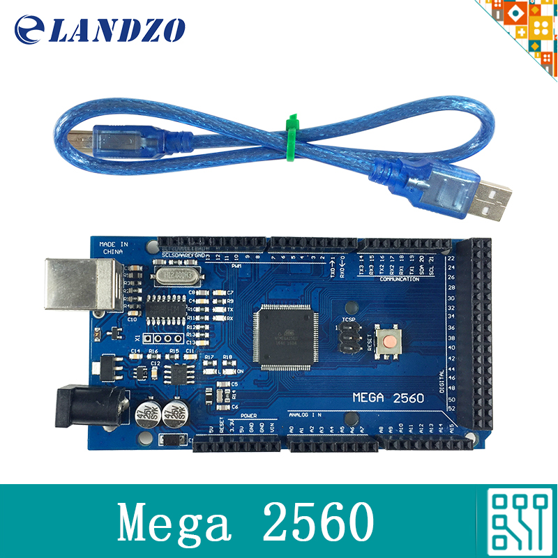Mega 2560 R3 Mega2560 REV3 ATmega2560 font b Board b font and USB Cable compatible for