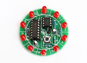 diy electronic kit set Electronic lucky turntable Water lamp lottery Diy assembly small production competition Welding practice(China)