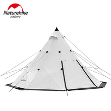 Naturehike Factory sell 2018 NEW 5-8 Pyramid camping tent windbreak rainstorm Park outdoor super large tent