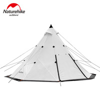 Naturehike Factory sell 2018 NEW 5 8 Pyramid camping tent windbreak rainstorm Park outdoor super large tent