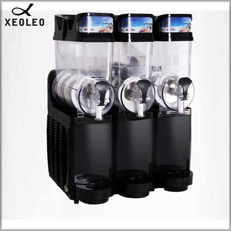 XEOLEO 15L*3 Tank Ice Slusher Commercial Slushing machine Smoothie maker Ice cream Snow melting machine Smoothie Granita machine