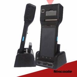 5 inch Android Industriële Printer Handheld Terminal 1D Barcode Scanner ingebouwde UHF RFID 4000 mAh Batterij BT4.0