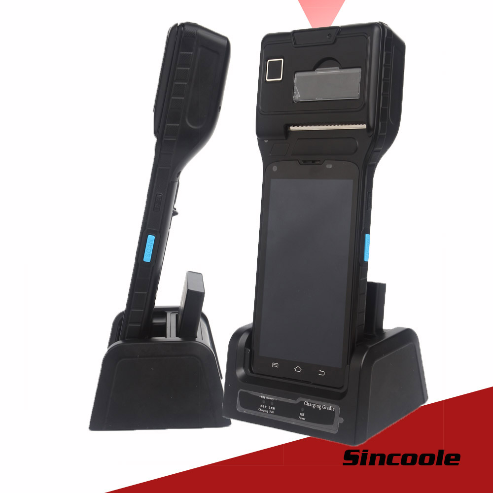 5 Inch Android Industrial Printer Handheld Terminal 1D Barcode Scanner Build In UHF RFID  4000mAh Battery BT4.0