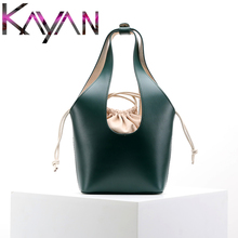 цены 2019 Hot INS Style Basket Bag Fashion Handle Bucket Bag Mini Women Tote Shoulder Crossbody Bag With Inner Pocket Large Handle