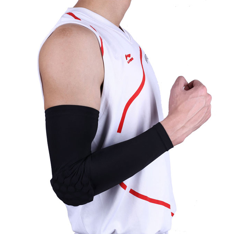 Breathable Sports Elbow Basketball Protection Crashproof Elbow Pads Brace Support Guards Pads Arm Sleeve Warmers factory direct sale hinge elbow brace arm support medical orthopedic orthotics supports