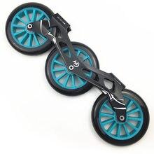3x125mm skate quadro 85a roda ILQ-11 rolamento combinação inline velocidade patinação base maratona corrida apto para 165-195mm botas dj65