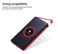 wireless 8000mAh PowerBank USB External Battery Charger Portable Power Bank lyeou ly 660 external 8000mah portable power bank silver dc 5v 2a
