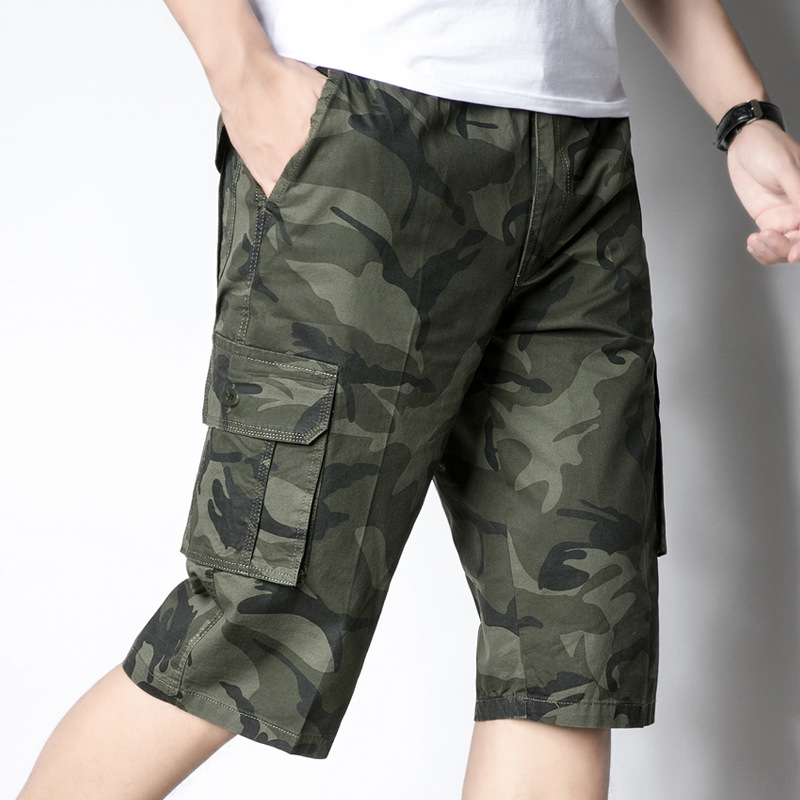 Camouflage  Camo Pants Fashion Mens Bermuda Masculina Casual Male Work Short Pants Man Army Military Cargo Shorts