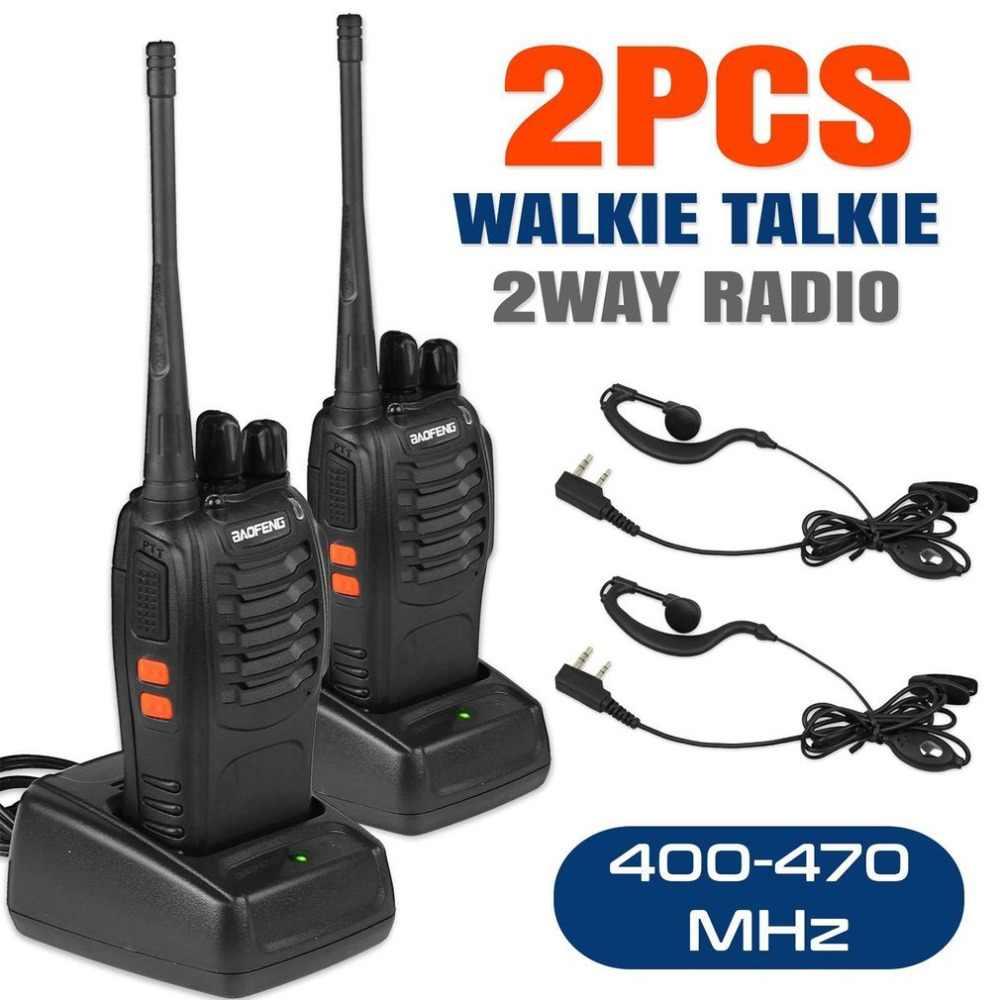 BF 888S рация UHF двухстороннее радио Baofeng 888 s 400 470 MHz 16CH портативный приемопередатчик