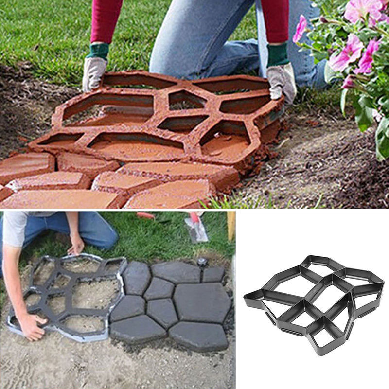 Floor Path Maker Mould Concrete Mold Reusable DIY Paving Durable for Garden Lawn DTT88