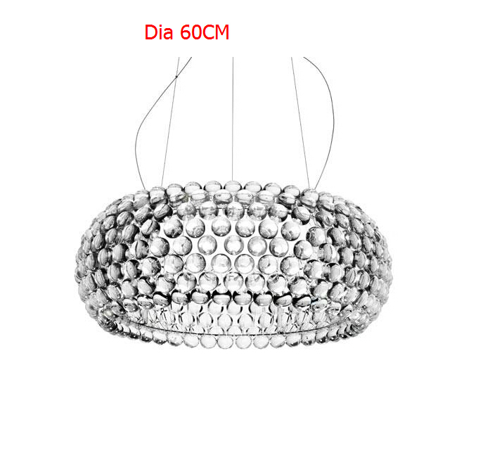 50cm/65cm Modern Caboche Dining Room Pendant Lights Glass Abajur lamps for living room Restaurant lampara colgante de techo New купить