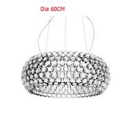 50cm/65cm Modern Caboche acrylic Pendant Lights Glass Abajur pendant lamp for living room Dining room lampen nordic lamp