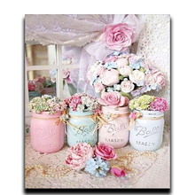 Diamond Crafts Embroidery Diy Cross Stitch Lovely Flower 3D Full Drill Square Mosaic