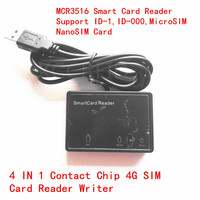 MCR3516 4 In 1 4G Contact Reader Writer Support Standard Contact IC Card SIM Card MicroSIM