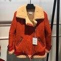 ladies real merino one body lambskin fur coat long sleeve women genuine sheep fur coat