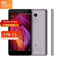 Global versión original del xiaomi redmi note 4 teléfono móvil snapdragon 625 octa core 3 gb ram 32 gb rom