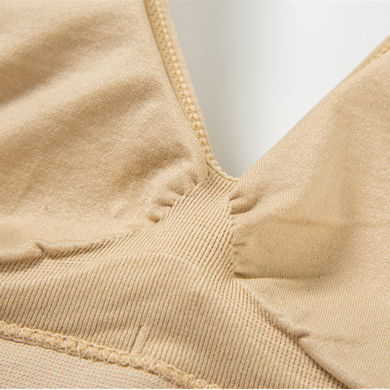 Plus fertilizer XL 5XL Women 39 s Underwear No trace Sleep Vest No rims Bra Bralette Female Sexy Bra Large Brassiere in Bras from Underwear amp Sleepwears