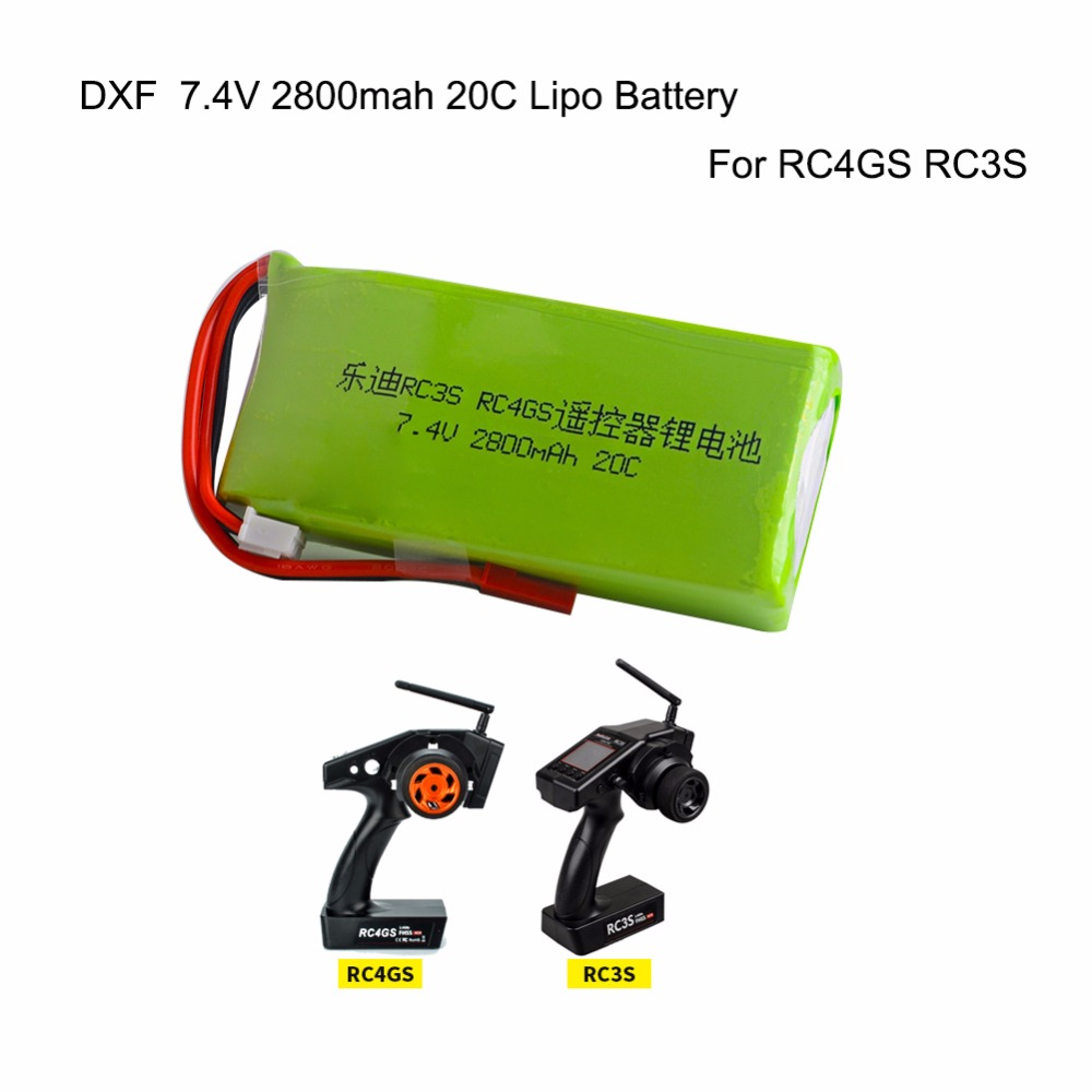 DXF <font><b>Lipo</b></font> Battery <font><b>2S</b></font> 7.4V <font><b>2800mah</b></font> 20C <font><b>Lipo</b></font> Battery For Radiolink RC3S RC4GS RC6GS Transmitter image